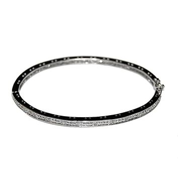 Brieri Round CZ Bangle Bracelet