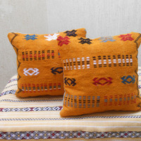"""16"""" x 16""""  Vintage Home Decor Moroccan Kilim Pillow Cover- Vintage Woven Wool Cushion"""