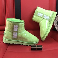 UGG new fluorescent jelly boots ladies personalized snow boots
