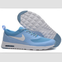 NIKE trend of fashion leisure sports shoes Light blue and white