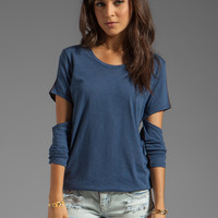 Blue Life Scoop Neck Cut Out Sleeve Tee in Cadette Combo from REVOLVEclothing.com