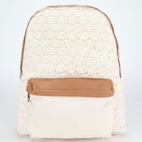 Lacy Backpack Ivory One Size For Women 24044416001