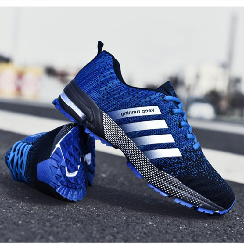 Image of Fashion Men's Shoes Portable Breathable Running Shoes 46 Large Size Sneakers Comfortable Walking Jogging Casual Shoes 48