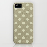 Camel Polka Dots iPhone & iPod Case by M Studio