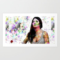Portrait of Dexter Actress :  Jennifer Carpenter  Art Print by Andre Joseph Martin