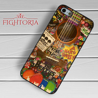 Guitar The Beatles Hippie - z321z for iPhone 6S case, iPhone 5s case, iPhone 6 case, iPhone 4S, Samsung S6 Edge
