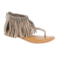 Not Rated Taupe with Fringe Solene Sandal