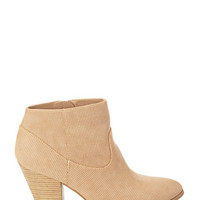 FOREVER 21 Perforated Faux Leather Booties