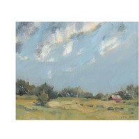Oil Painting, Landscape Painting, Farm Painting, Original Oil Painting, Farmhouse Decor, Barn Painting, Country Landscape, Scenic Painting
