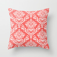 Coral Throw Pillow by Sydney Smith