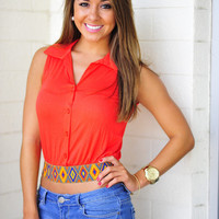 Take Me With You Crop Top: Orange | Hope's