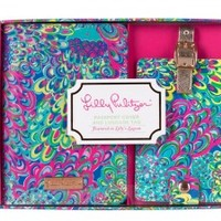 Lilly Pulitzer Lilly's Lagoon Passport Cover and Luggage Tag Set