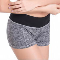women YOGA fitness sports training shorts dry female stretch running short pants sexy mini slim gym sweatpants workout clothes