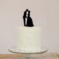 Personalized Silhouette Wedding Cake Topper by Silhouetteweddings