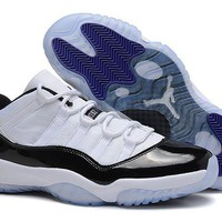 Air Jordan 11 Low Aj11 White/black/blue Basketball Sneaker Size Us 8 13 | Best Deal Online