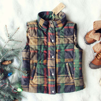 Rainier Plaid Vest in Mustard