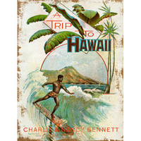Personalized Trip To Hawaii Wood Sign