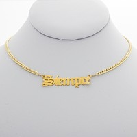 Siempre Nameplate Necklace
