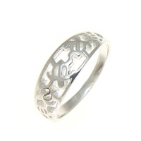 925 STERLING SILVER HAWAIIAN 5 CUT OUT HONU SEA TURTLE RING SIZE 3 -10