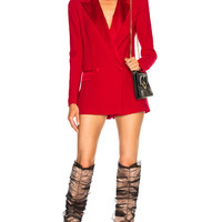 Faith Connexion Tux Blazer Romper in Red | FWRD
