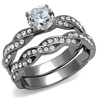 Engagement Rings For Women TK2475 Stainless Steel Ring with AAA Grade CZ