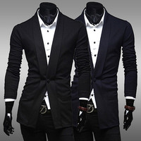 Men's Slim-Fit One Buttoned Blazer Sweater