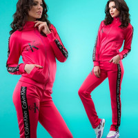 """Calvin Klein"" :Fashion Letter Long Sleeve Shirt Sweater Pants Sweatpants Set Two-Piece Sportswear"