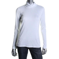 Ralph Lauren Womens Cotton Long Sleeves Turtleneck Shirt