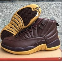 Air Jordan 12 Retro Aj 12 Chocolate Men Women Basketball Shoes