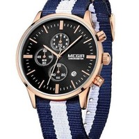 The Emery Watch White and Navy