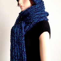 Knitted Scarf and Hat Set. Unisex handmade Winter Hat and Scarf set