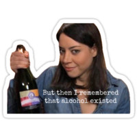 PARKS AND REC APRIL LUDGATE ON ALCOHOL
