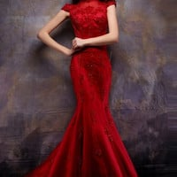 Chinese Wedding Lace Gown