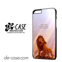 Lion King Disney Movie Quotes DEAL-6548 Apple Phonecase Cover For Iphone 6/ 6S Plus