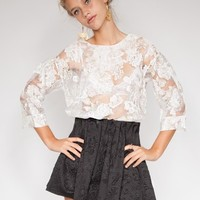 Floral organza blouse - Shop the latest Fashion Trends