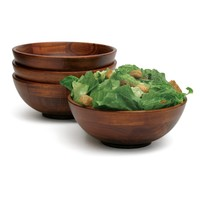 Lipper Cherry Individual Salad Bowls - Set of 4 | www.hayneedle.com