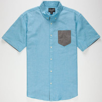 Retrofit Nathan Mens Shirt Turquoise  In Sizes