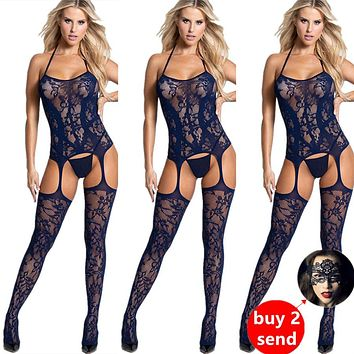 Fetish Bodystocking Lingerie Lace Sexy Bodysuit Costume