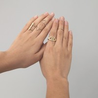 Odette New York -  Klaia Cage Ring: Recycled Brass