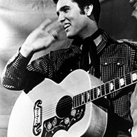 Espritte Art-Large Canvas Giclee Print Painting Elvis Aron Presley Picture Stretched and Framed, Modern Home Decorations Wall Art, 8*10inches #05HTK(387)
