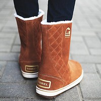 Sorel Womens Glacy Pull On Weather Boot