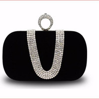 Woman Evening Diamond-studded Clutch Bag New Fashion Europe Luxury Female Pouches Womens Rhinestone Banquet Diamond Bags