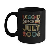 Legend Since July 2006 Vintage 14th Birthday Gifts Mug
