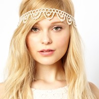 Her Curious Nature Pearl Head Band