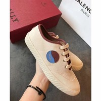BALLY2018 new sun and moon sneakers flat white shoes
