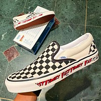 Vans Authentic Lx Vault Og Classic Chessboard Lazy One Step Wild Fashion Sneakers Shoes