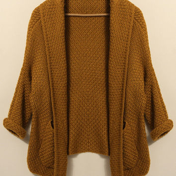 'The Teale' Brown  Knitted Cardigan