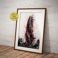 The Maker, Dead Space Poster, Watercolor game art print OC-940