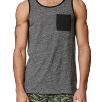 On The Byas Triblend Tank Top - Mens Tee - Black
