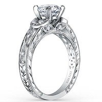 Kirk Kara Dahlia Leaf Diamond Engagement Ring